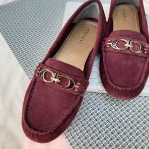 Coach Fortunata Driving Moccasin Loafers Flats Fall Holiday Christmas